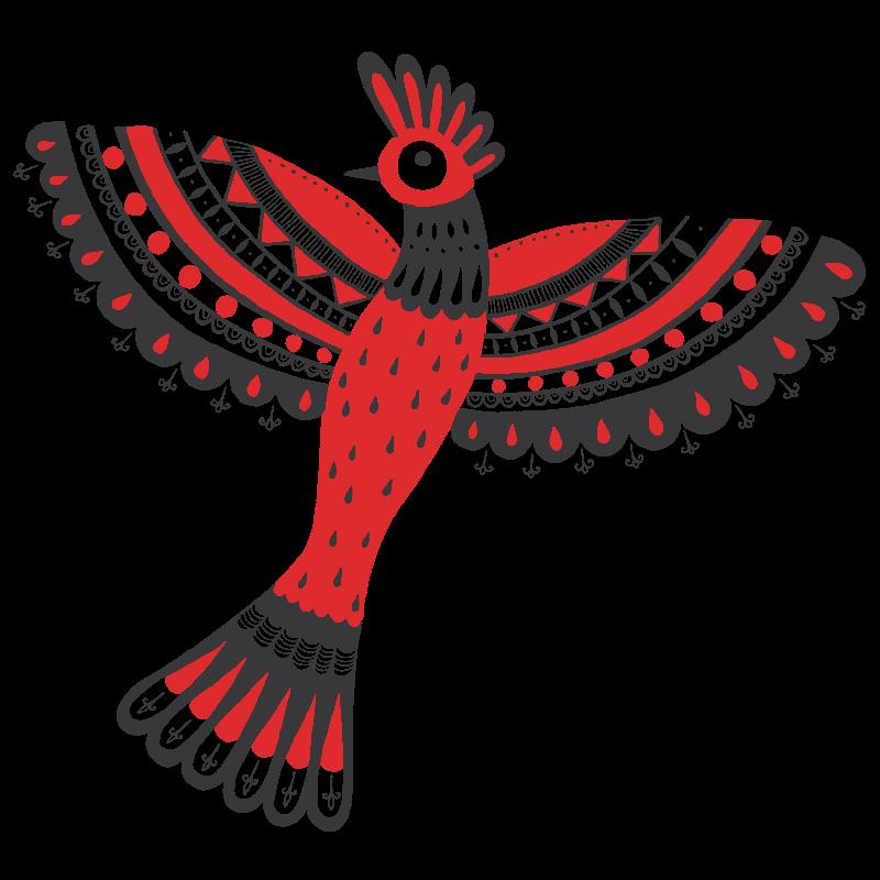 The red bird