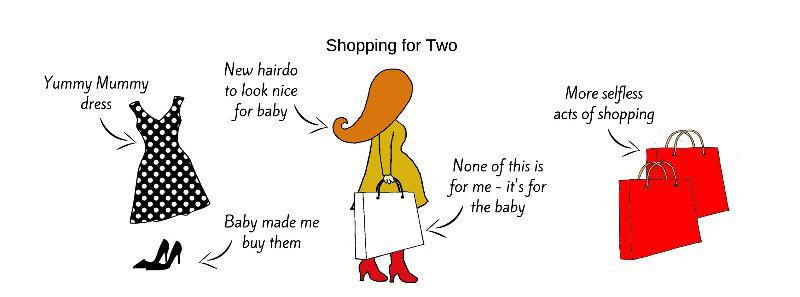 Pregnant Redhead Shopping