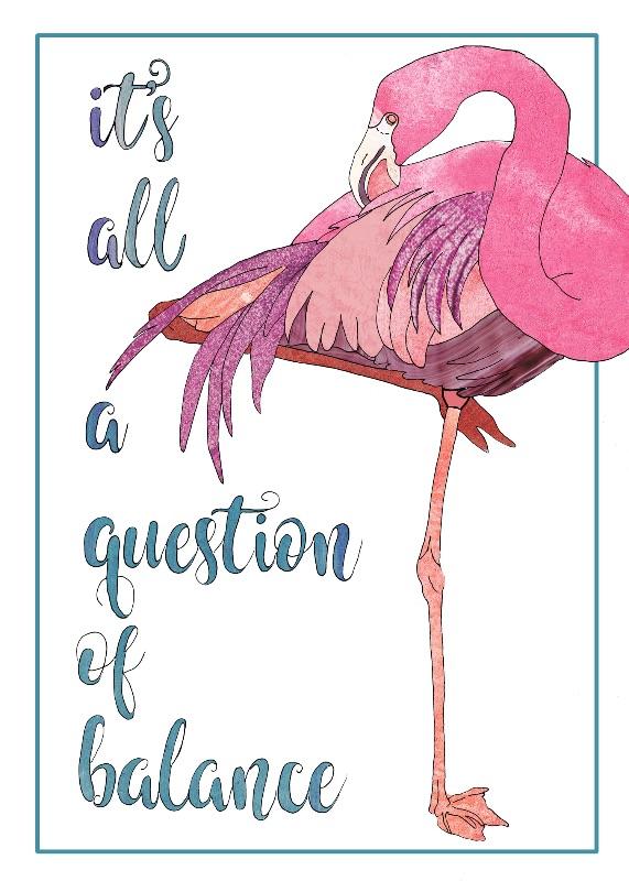 Balancing Flamingo