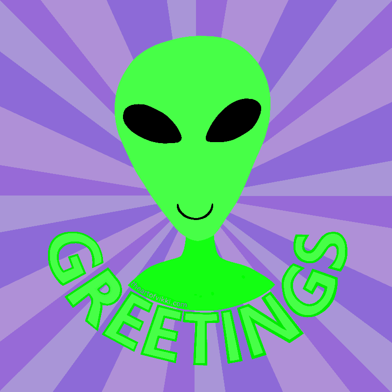 Greetings Happy Alien
