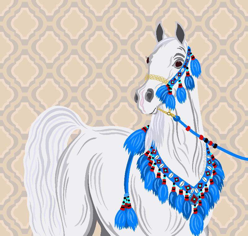 Grey Arabian Horse Native
