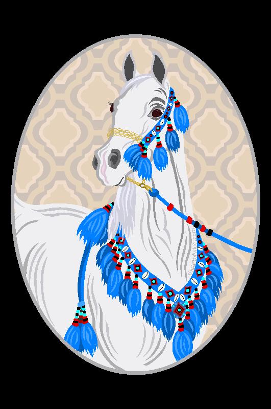 Grey Arabian Horse Tee