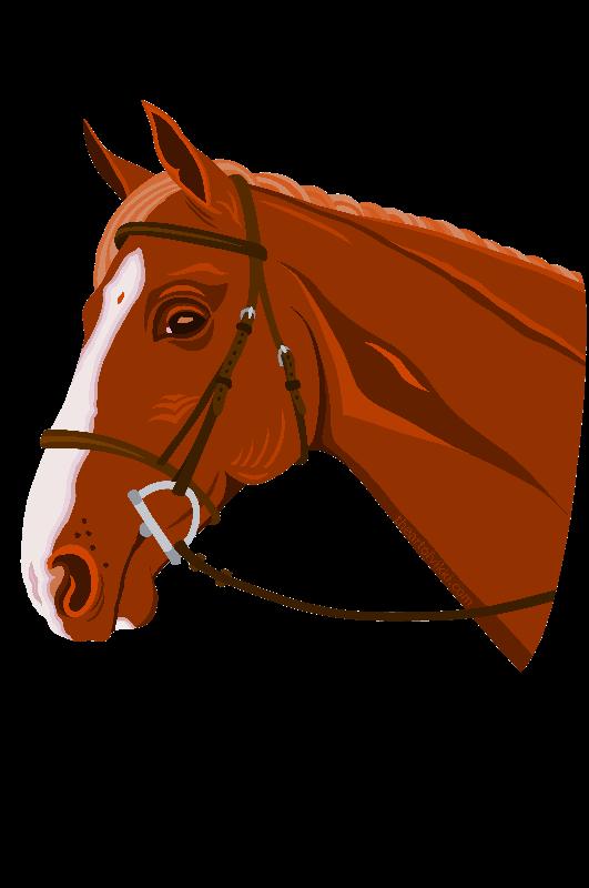 Horse Head Chestnut Tee