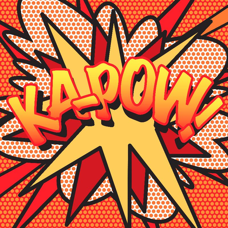 Comic Book Pop Art KAPOW
