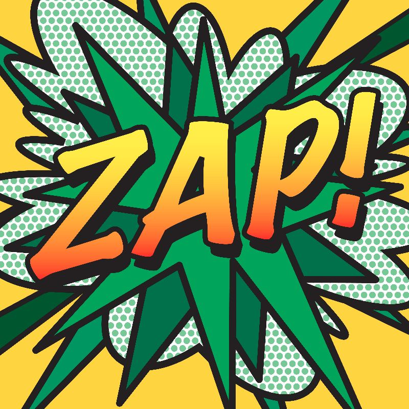 Comic Book Pop Art ZAP