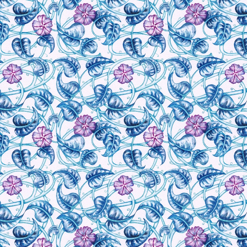 Ipomea Floral Pattern