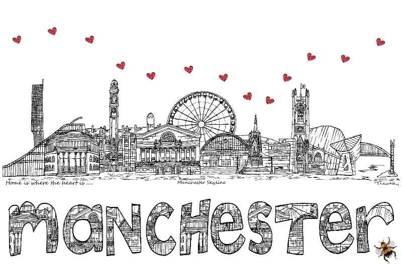 Manchester skyline  bee