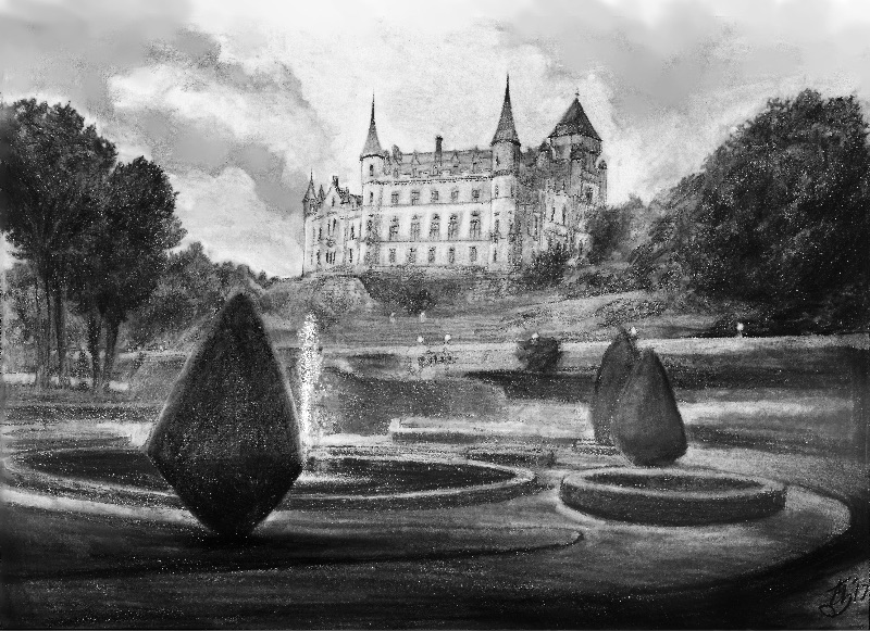 Dunrobin Castle drawing