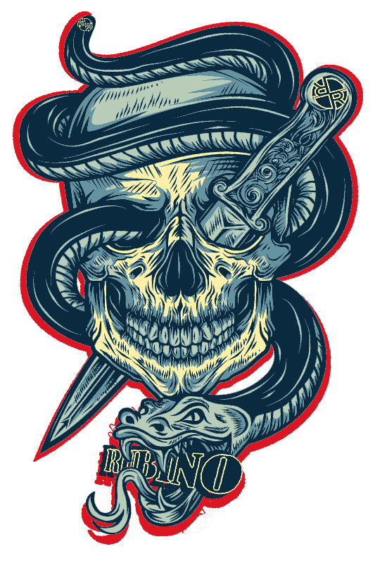 Rubino Skull Snake Silo