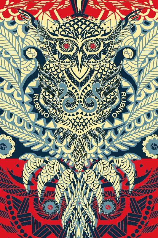 Rubino Zen Owl Blue