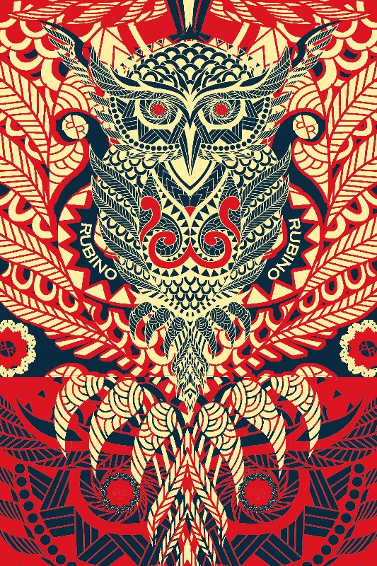 Rubino Zen Owl Red