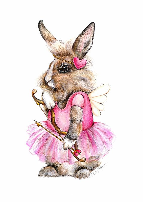 Love Cupid Bunny Rabbit