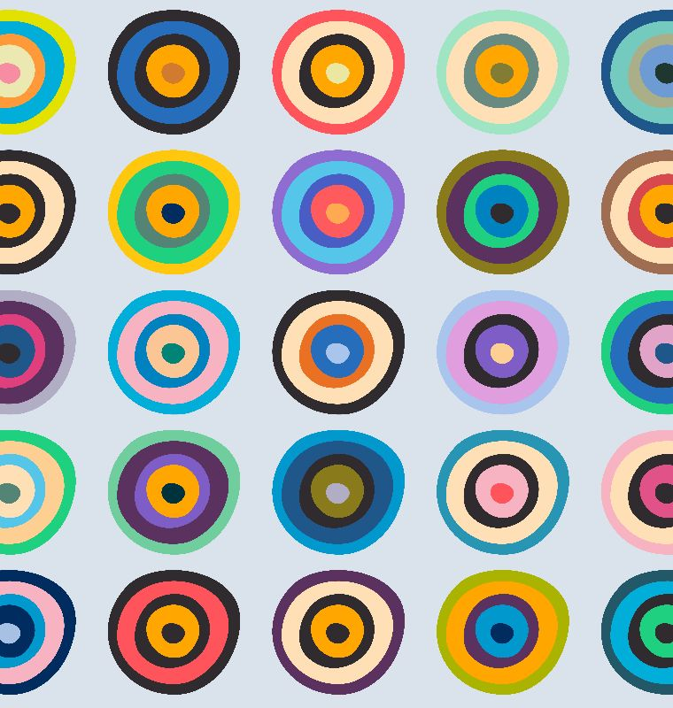 Colorful Circles VI