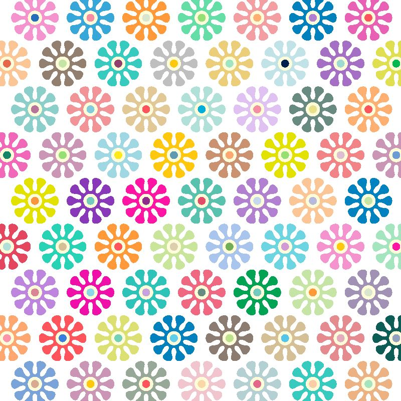 Colorful Floral Pattern 3