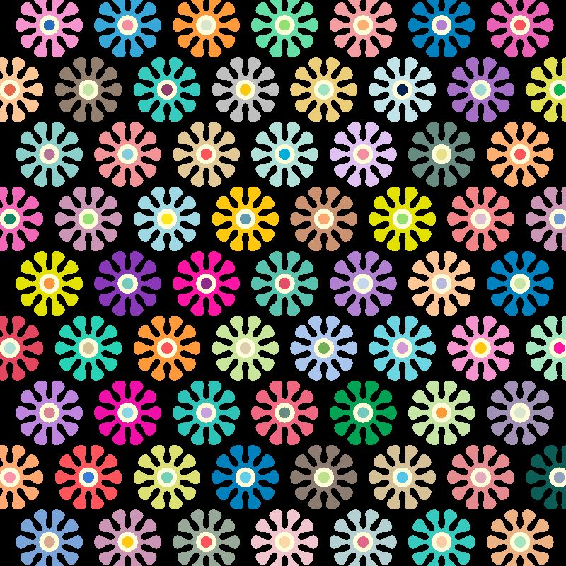 Colorful Floral Pattern 4