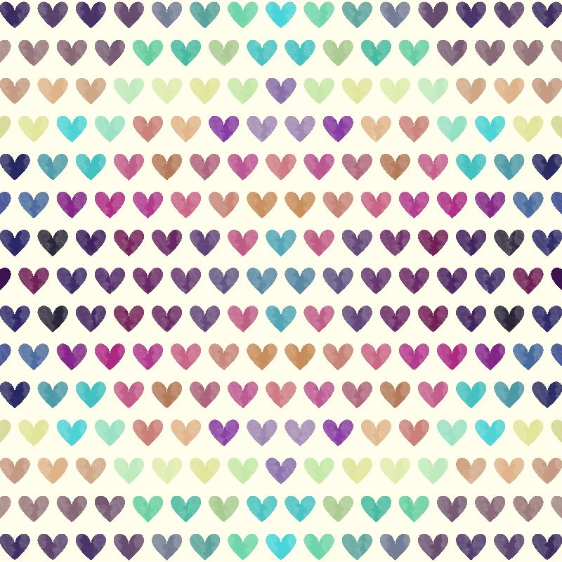 Colorful Hearts II