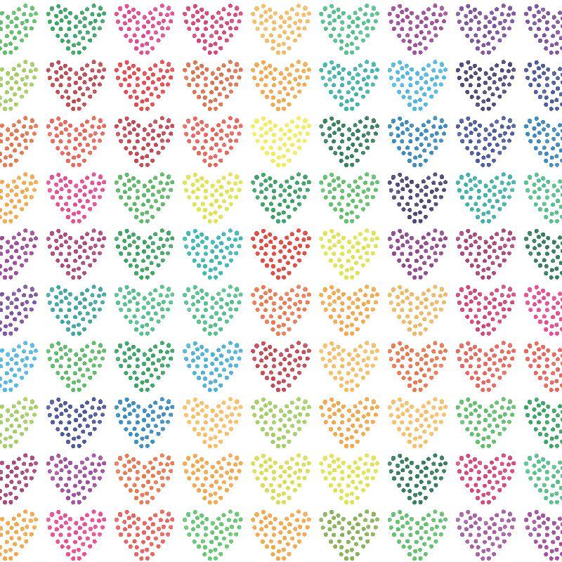 Colorful Hearts III
