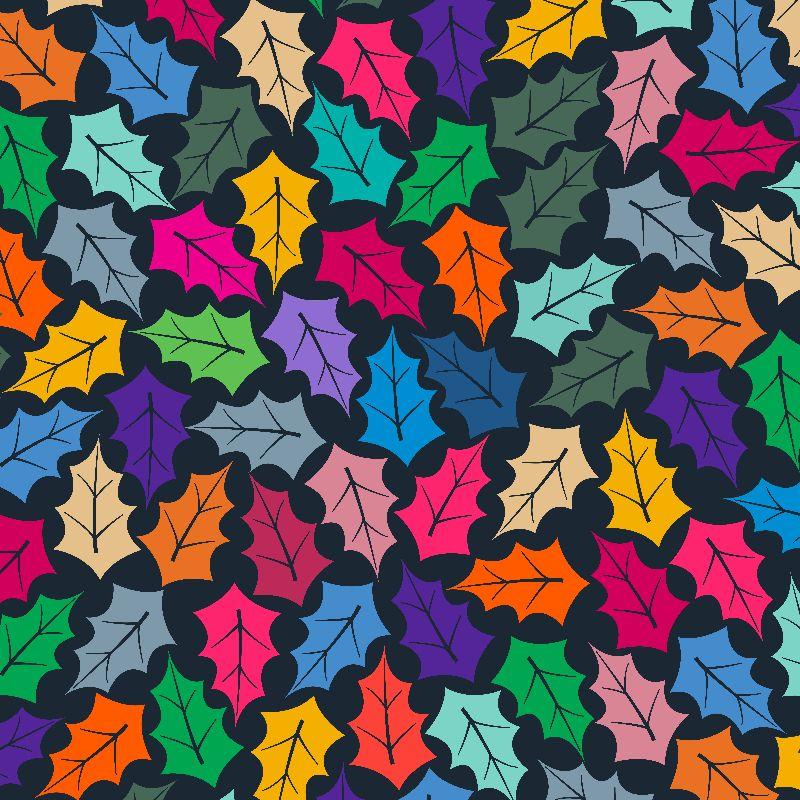 Colorful Leaf pattern II