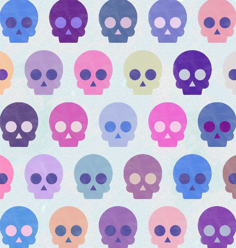 Colorful Skull Pattern II
