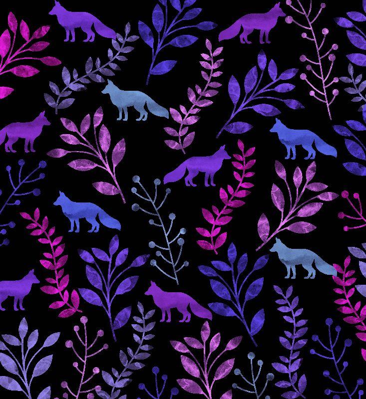 Watercolor Floral  Fox 5