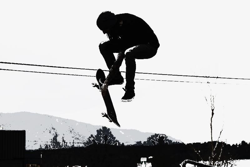 High Flying Skateboarder
