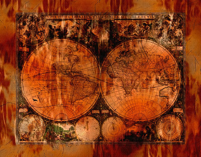 Rustic Old World Map