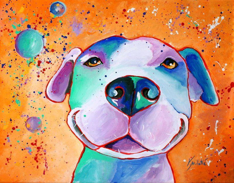 Big Smile Dog Art