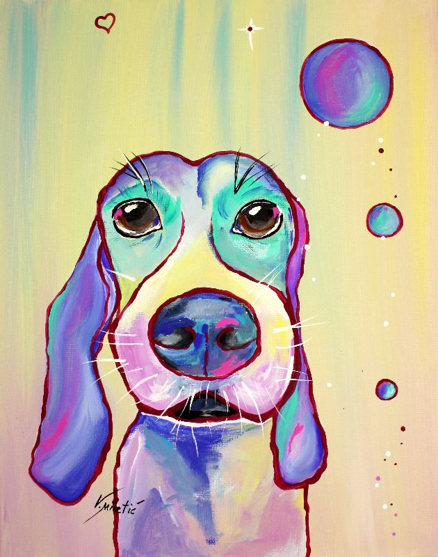 Colorful Dog Art