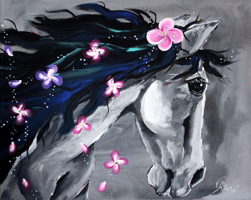 The Grey  Horse Art