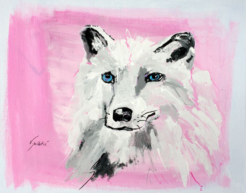White Wolf Animal Art