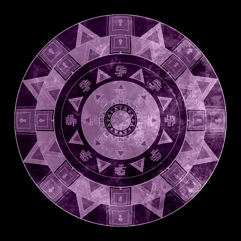 ethnic circle purple