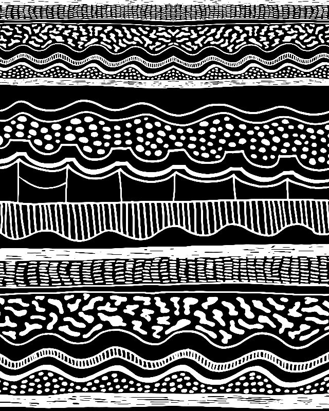BLack white graphic aztec