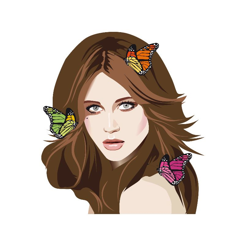 Beautiful Butterfly Hair