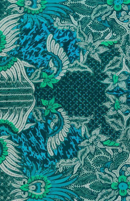 Batik turquoise green