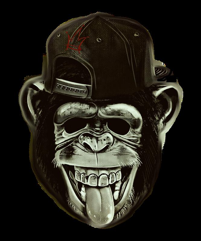 Hipster Monkey Ape