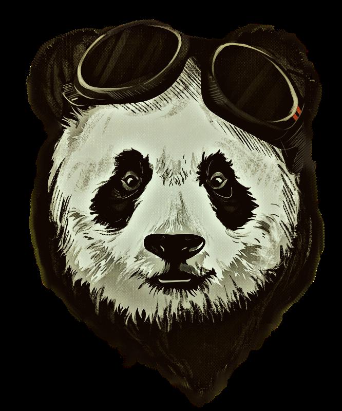 Hipster Panda Bear