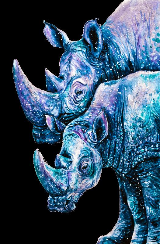 Rhinoceros Couple