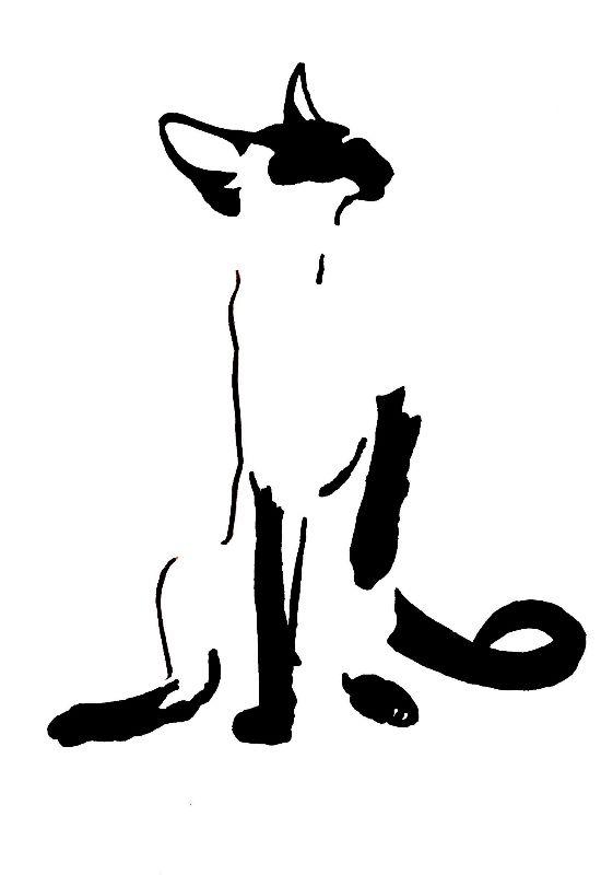 Siamese Cat Minimalism 1