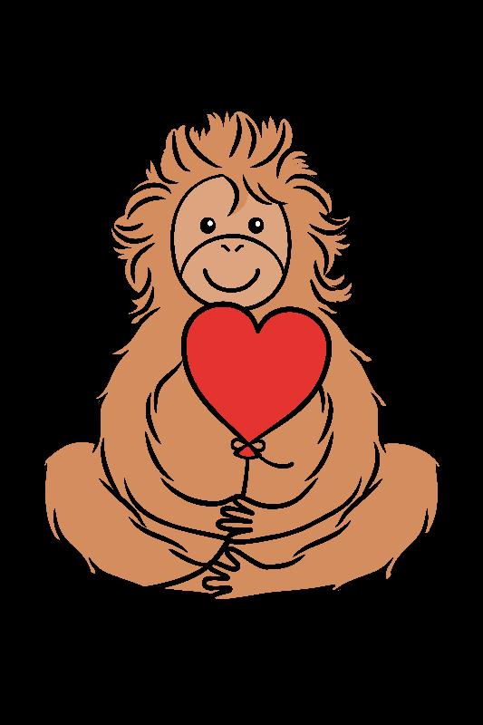 Lovable Orangutan