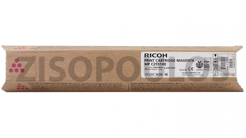 RICOH TONER MPC 2051/2551HY MAGENTA 841506