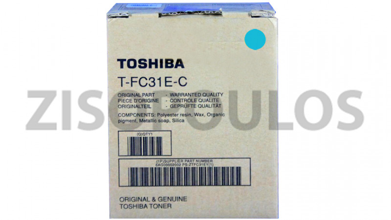 TOSHIBA TONER TFC 31E CYAN 6AG00001999