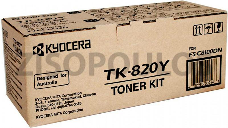 KYOCERA TONER TK 820 YELLOW 1T02HPAEU0