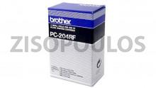 BROTHER  Black  PC-204RF Thermal Transfer Ribbon