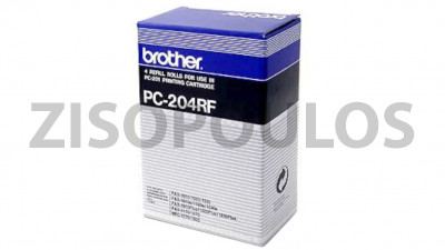 BROTHER  Black  PC-204RF Thermal Transfer Ribbon