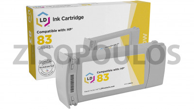 HP ΣΥΜΒΑΤΟ INK CARTRIGDE C4943A HP83 YELLOW