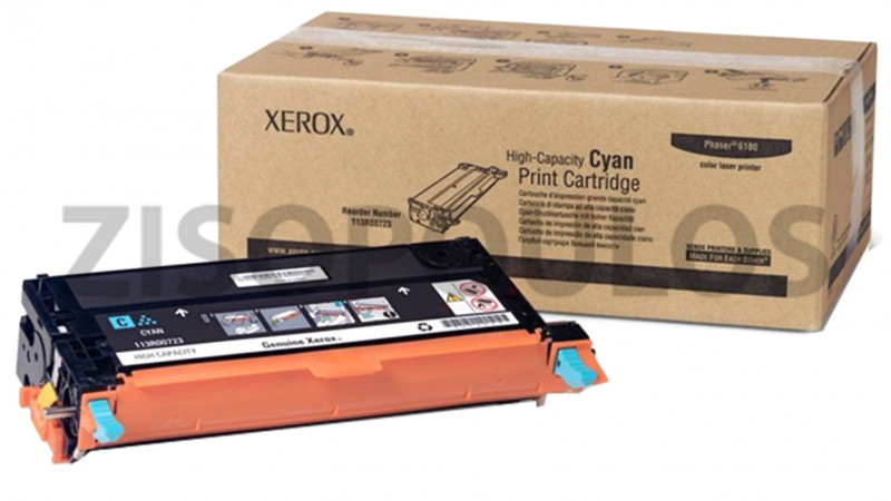 XEROX TONER PHASER 6180MFP CYAN 113R00731