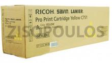 RICOH  TONER PRO C751 CARTRIDGE YELLOW