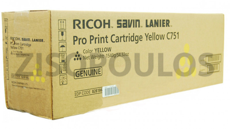 RICOH TONER PRO C 751 YELLOW 828186