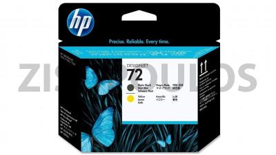 HP 72 MATTE BLACK/YELLOW PRINTHEAD C9384A