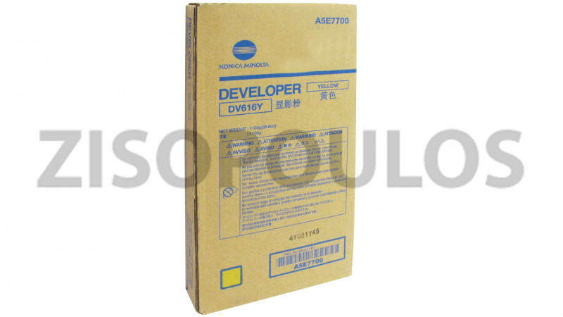KONICA MINOLTA DEVELOPER DV 616 YELLOW A5E7700
